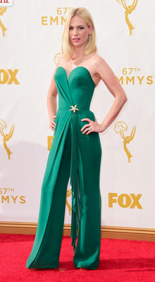 January Jones's Beautiful Emmy's Look